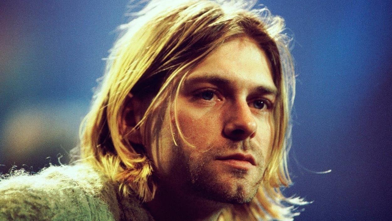 Portrait de Kurt Cobain en gros plan