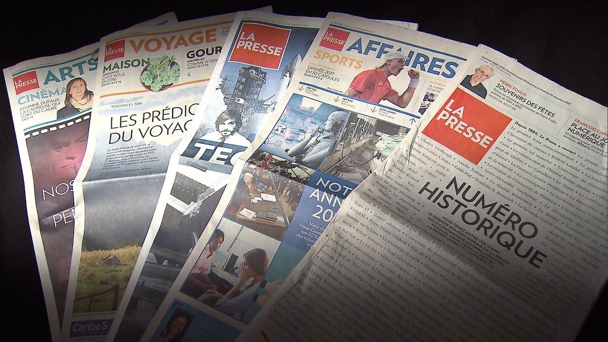 La toute dernière parution papier de La Presse, le 30 décembre 2017.