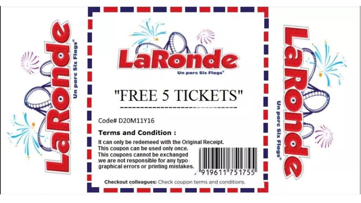 Nous voyons une image montrant un billet pour La Ronde.