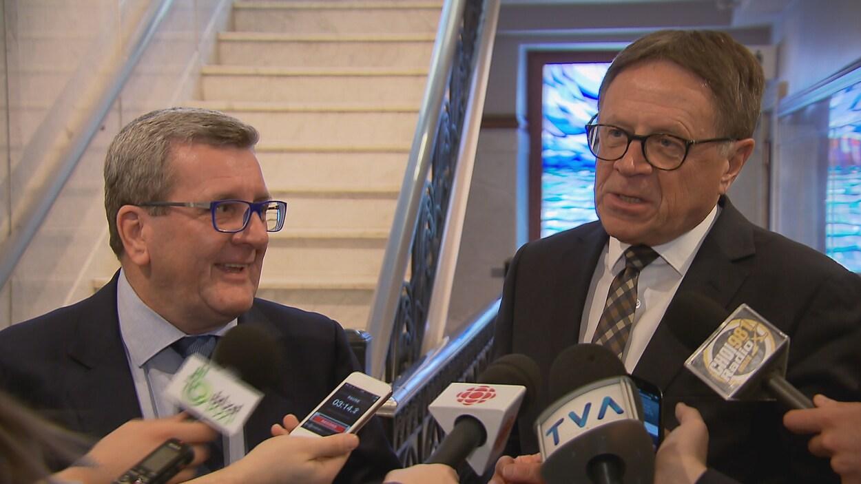Les maires de Québec et Lévis, Régis Labeaume et Gilles Lehouillier