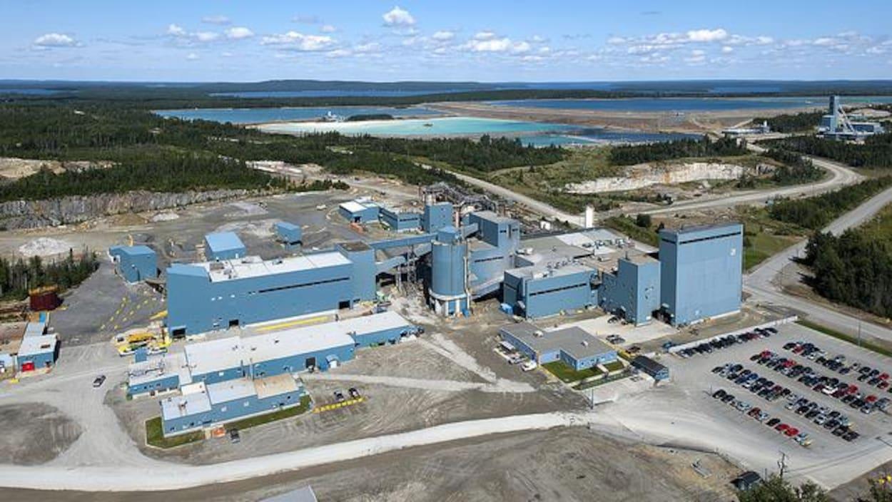 Vue aérienne du site de la mine LaRonde, d'Agnico Eagle.