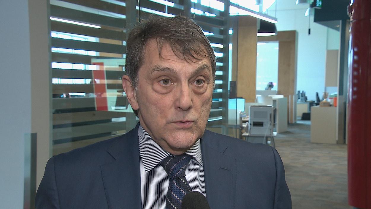 Le président du Réseau de santé Vitalité, Gilles Lanteigne en entrevue