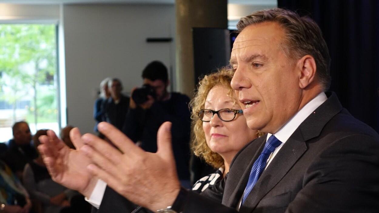 Le chef de la Coalition avenir Québec François Legault en