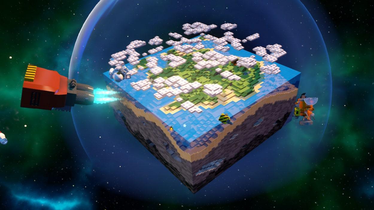 Vue d'ensemble de la première planète du jeu.