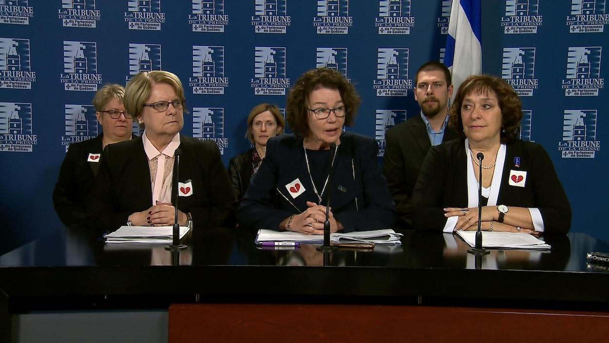 Lise Lapointe, Louise Chabot et Claire Montour