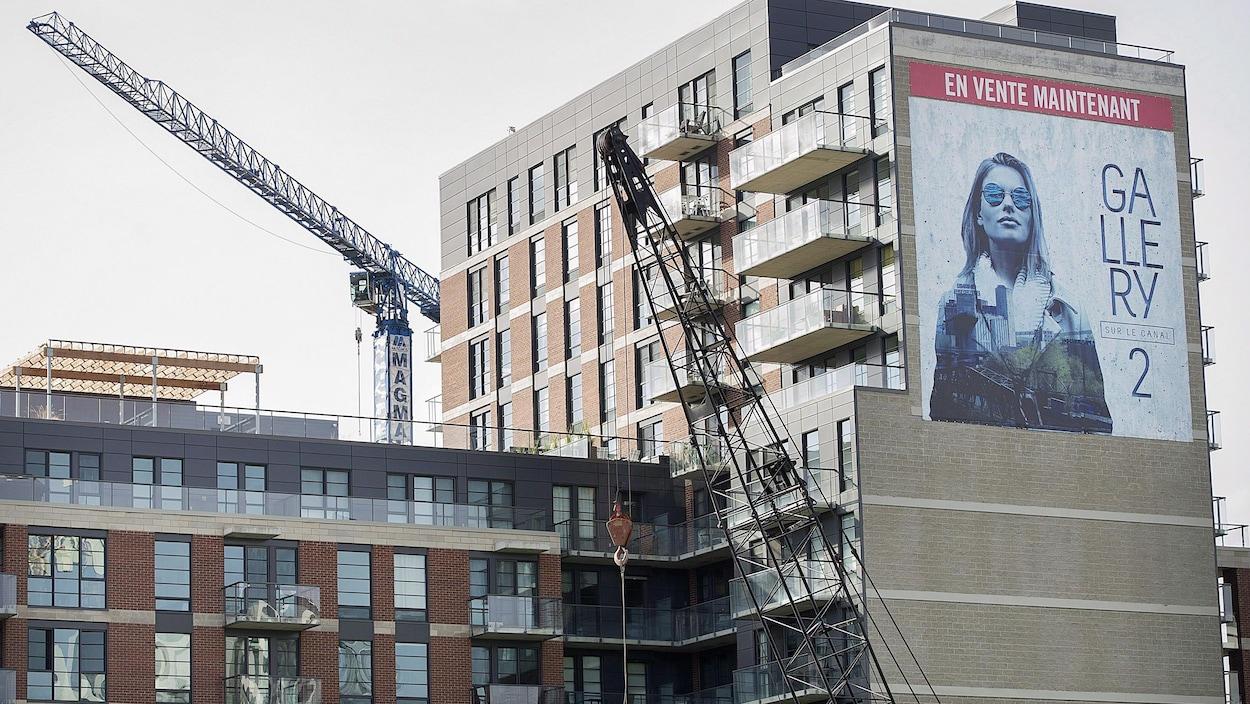 Un projet immobilier dans le quartier montréalais de Griffintown.