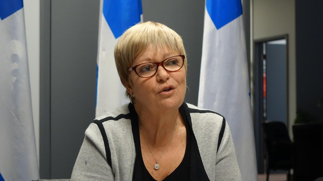 La députée de Duplessis, Lorraine Richard