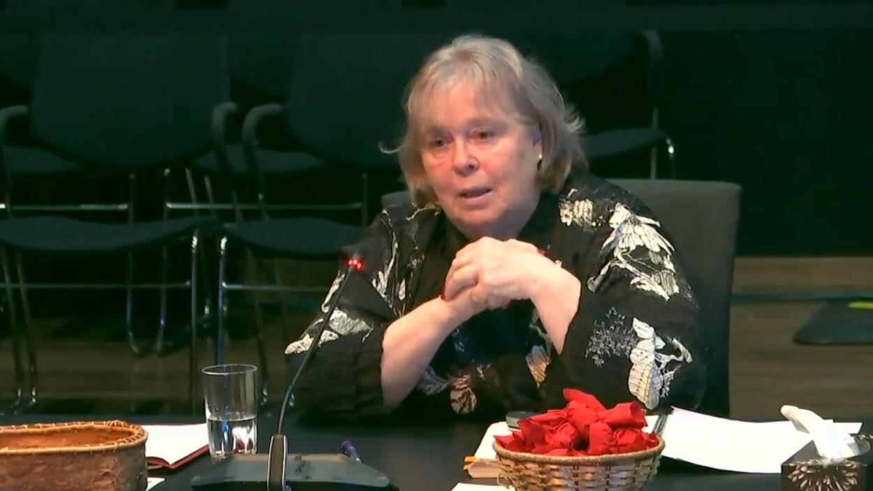 La directrice du Bureau des enquêtes indépendantes, Madeleine Giauque, devant la Commission Viens.