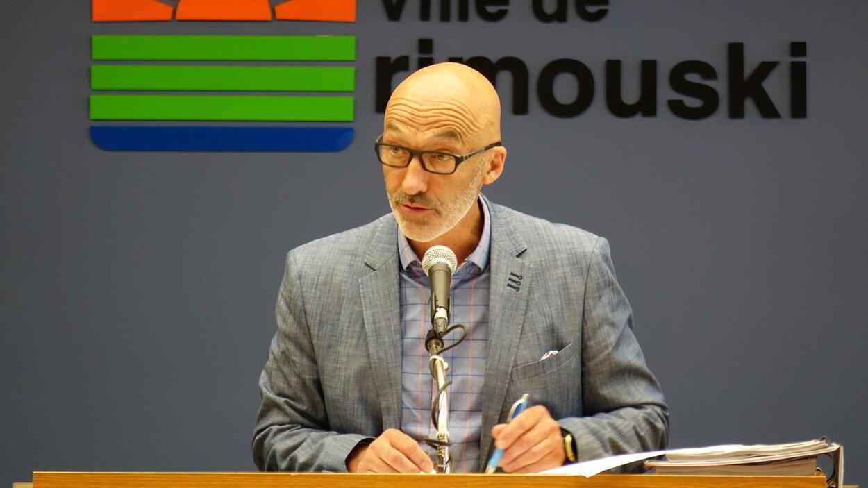 Le maire de Rimouski, Marc Parent