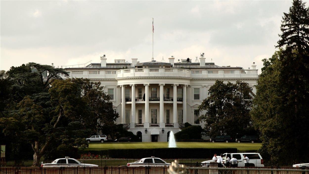 La Maison-Blanche du côté du Bureau ovale