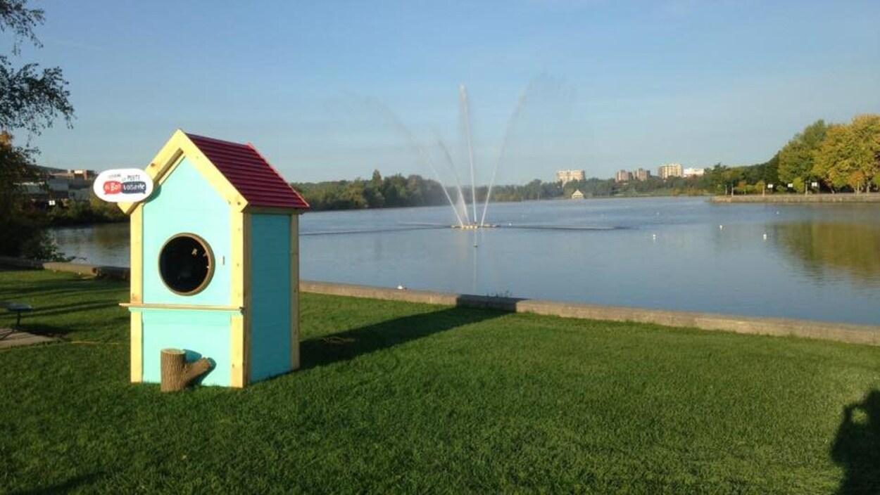 L'oeuvre d'Ultra Nan est installée sur la promenade du lac des Nations.