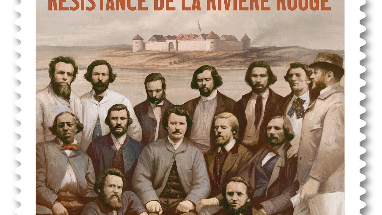 Un photo de 1870 montrant 14 hommes.