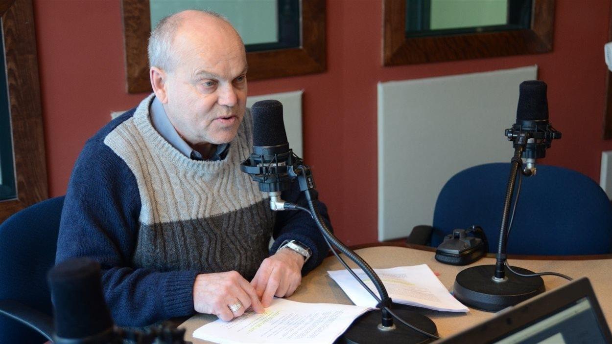 L'avocat et ex-député bloquiste Marc Lemay dans nos studios de Rouyn-Noranda.