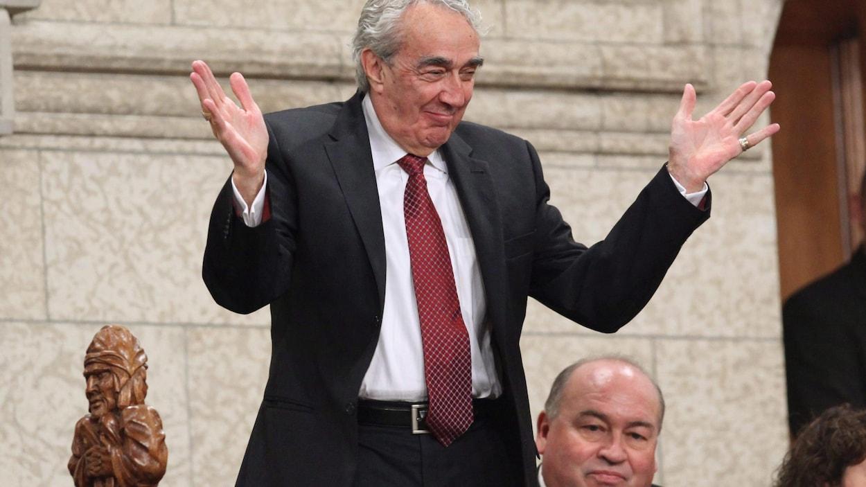 Marcel Prud'homme, au moment de prendre sa retraite du Sénat, en 2009