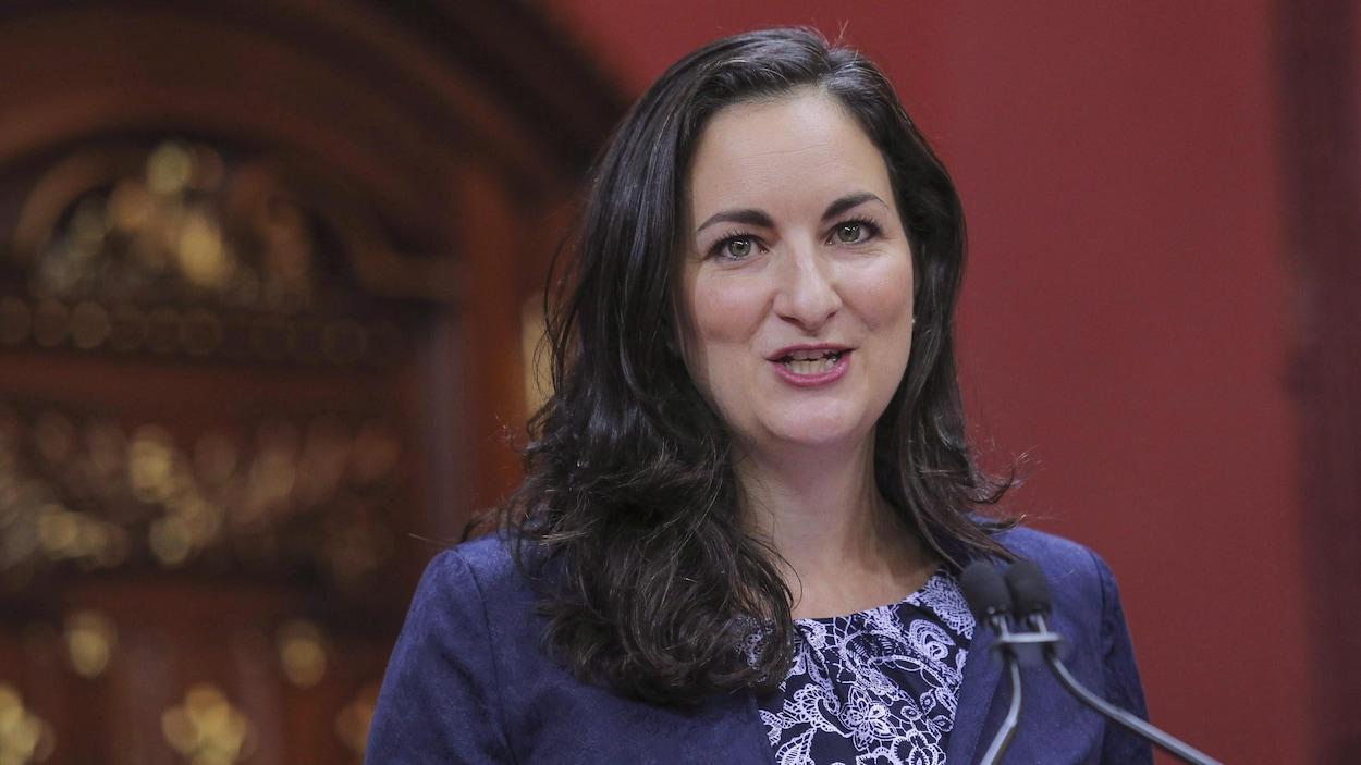 Marie Montpetit à l'Assemblée nationale.
