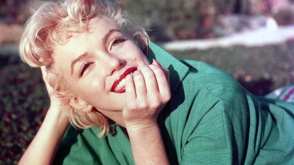 Portrait en couleurs de Marilyn Monroe