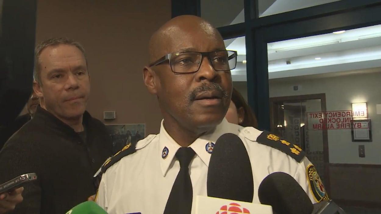 Le chef de police Mark Saunders.