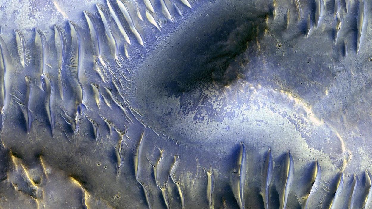 Une vue de la planète Mars