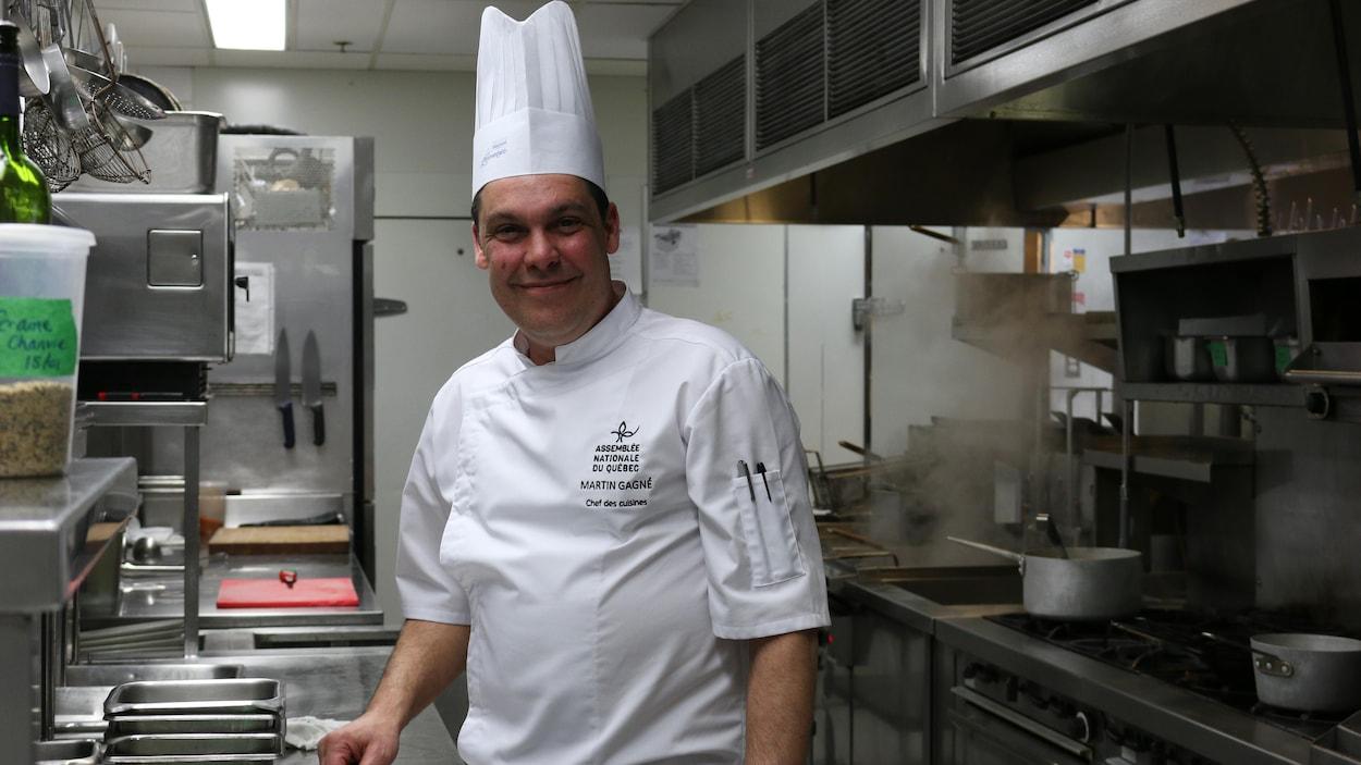 Martin Gagné, chef des cuisines, Assemblée nationale du Québec.