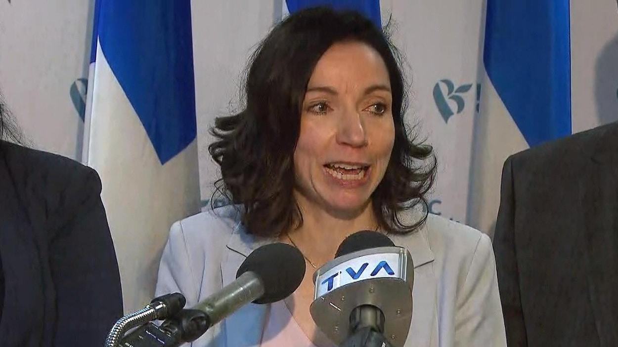 La chef du Bloc québécois, Martine Ouellet.