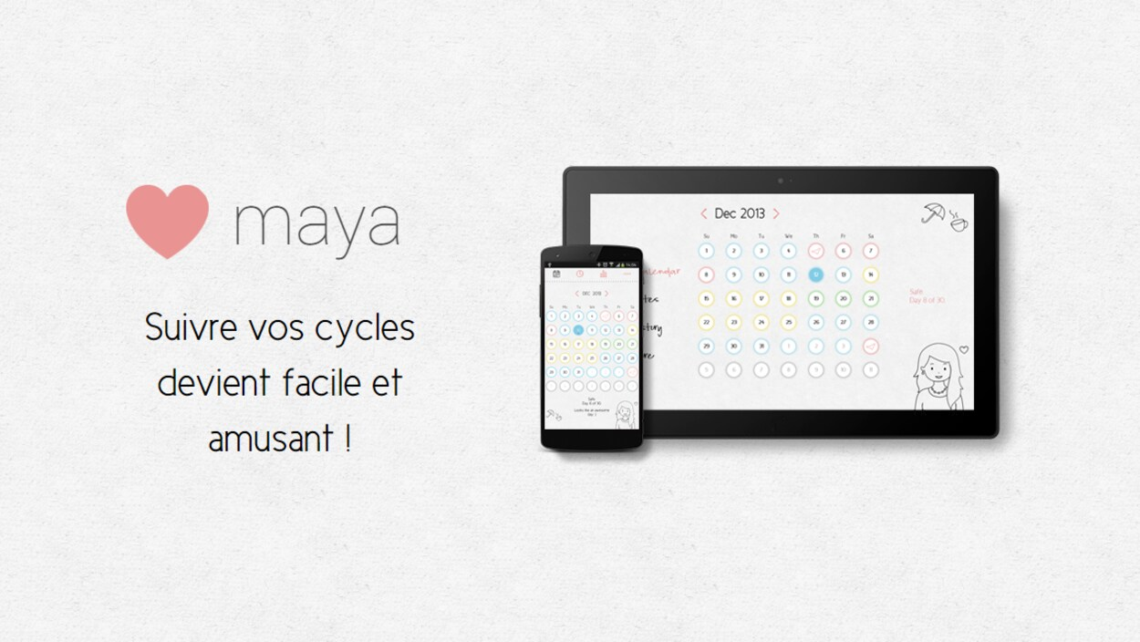 une publicité de l'application maya
