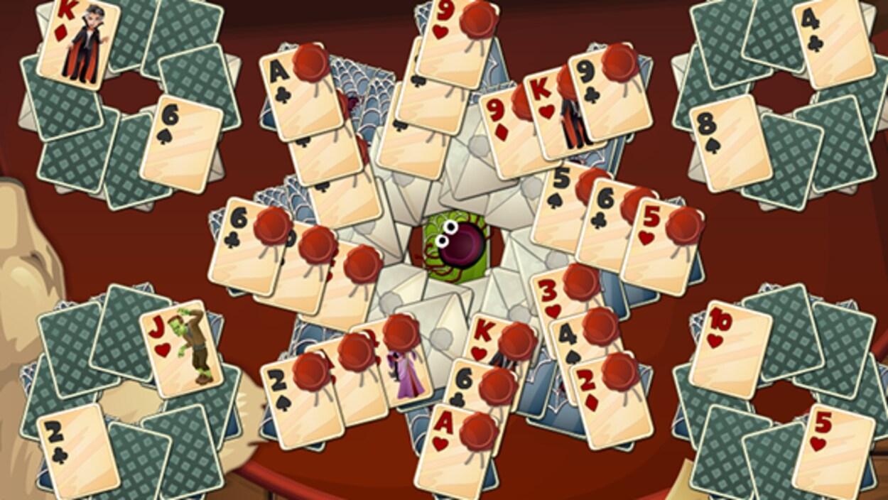 Représentation des cartes du jeu Solitaire Castle.