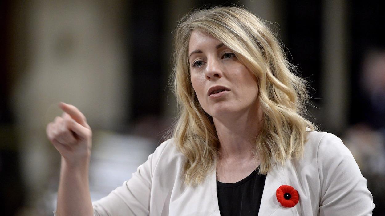 La ministre du Patrimoine canadien Mélanie Joly à la Chambre des communes le 31 octobre 2017