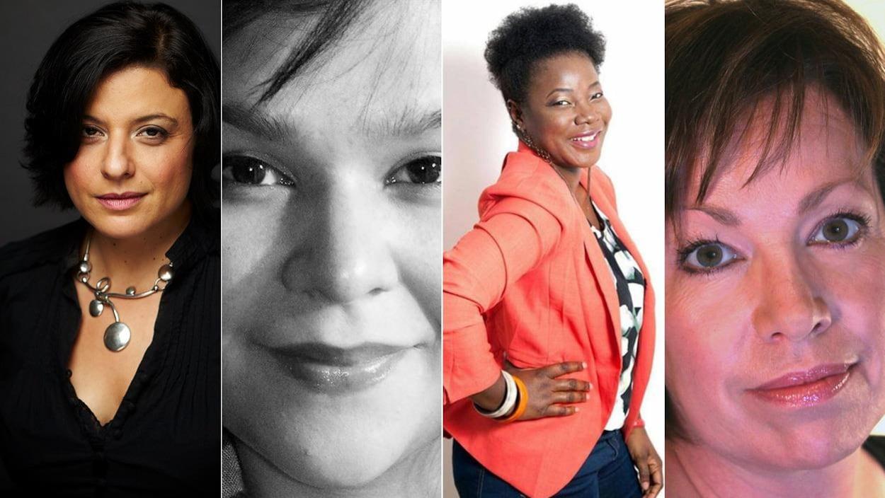Les auteures Mélikah Abdelmoumen, Naomi Fontaine, Bibish Mumbu et Martine Noël-Maw