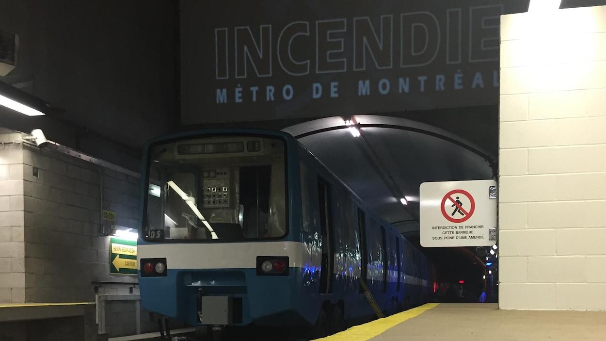 Le prolongement de la ligne bleue du métro officialisé lundi