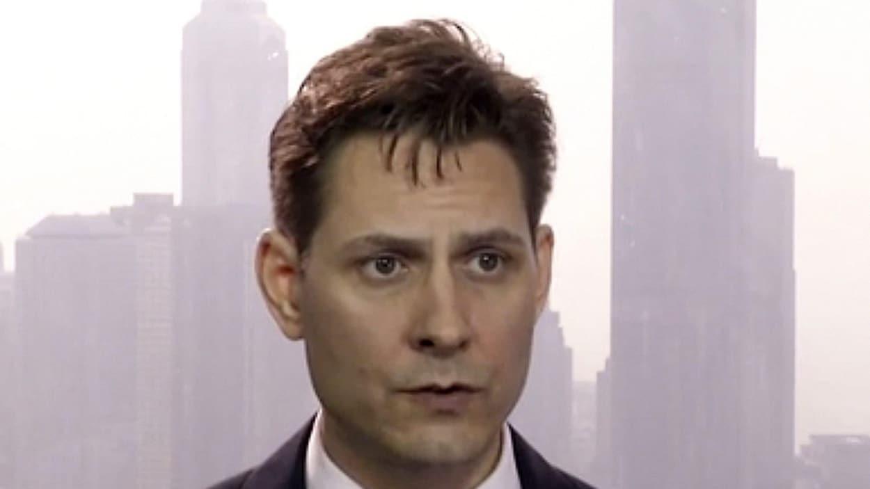 Michael Kovrig,  sur une image prise à partir d'une vidéo en mars 2018. Il est conseiller pour l'organisme  International Crisis Group.