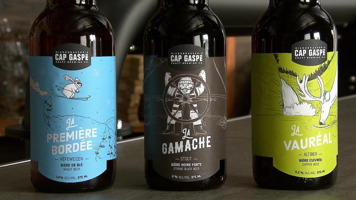 Des bières de la microbrasserie Cap Gaspé
