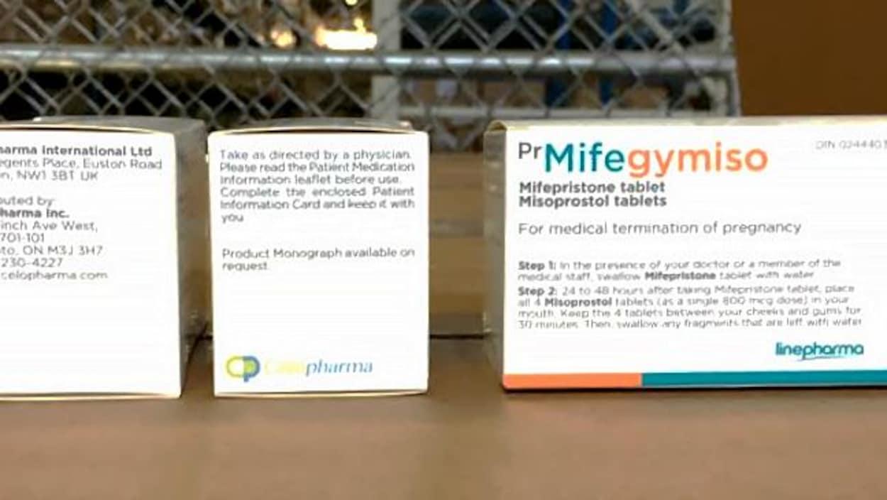 Image des boîtes dans lesquelles sont vendues les pilules abortives.