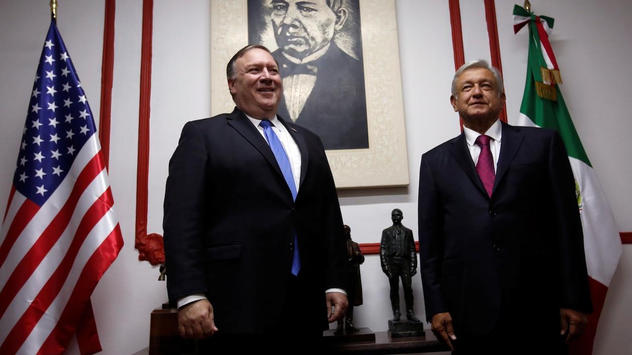 Le secrétaire d'État américain, Mike Pompeo, a rencontré le président élu mexicain, Andres Manuel Lopez Obrador, à Mexico.