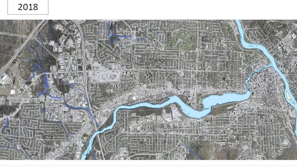 Plan des milieux humides et hybrides de Sherbrooke.
