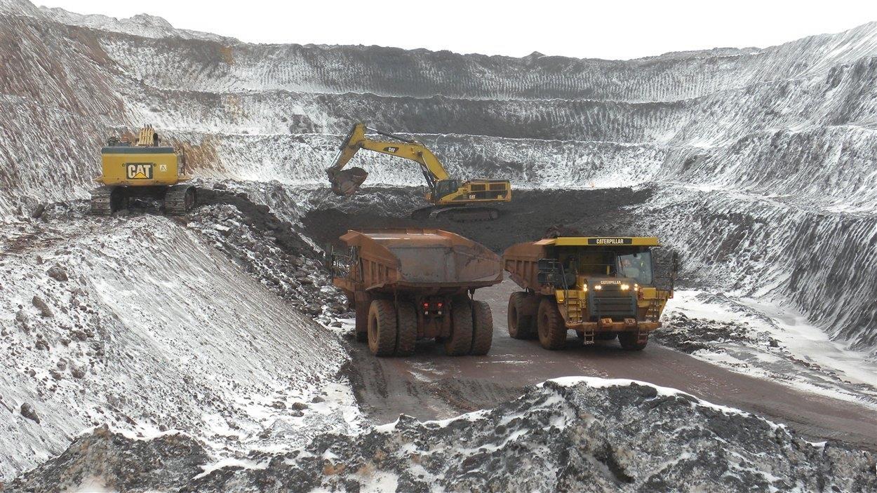 Une mine de fer à Schefferville.
