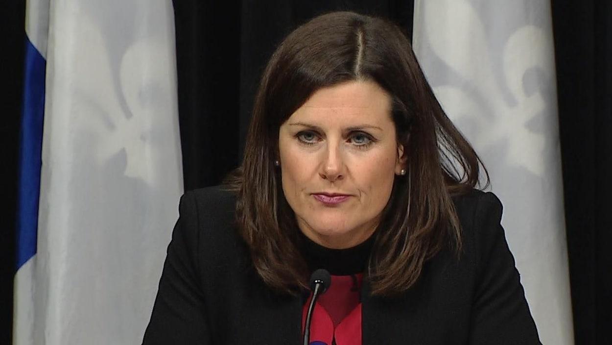 La ministre de la Justice du Québec, Stéphanie Vallée