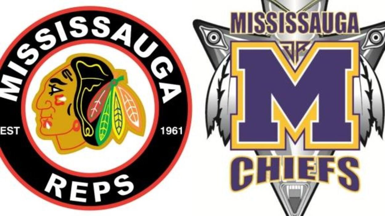 Photo des logos des équipes sportives Reps et Chiefs de Mississauga