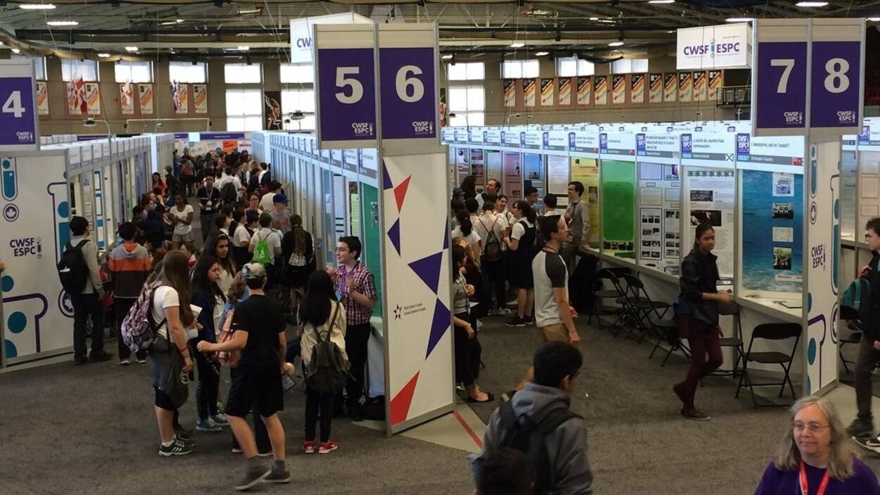 Vue de l'Expo-sciences pancanadienne, présentée à Montréal du 18 au 20 mai 2016