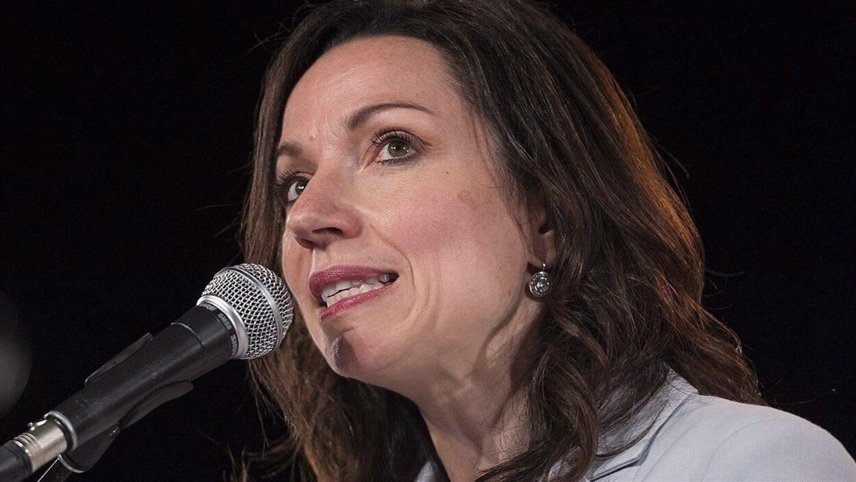 La nouvelle chef du Bloc québécois Martine Ouellet