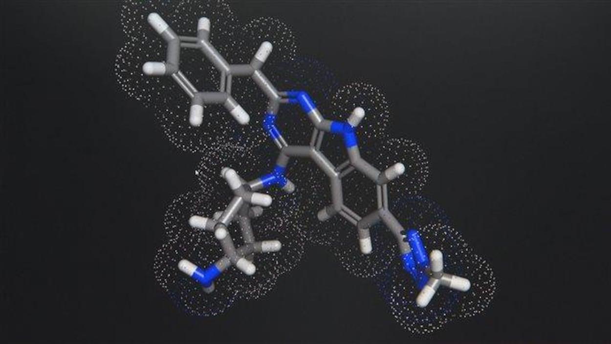 Représentation de la molécule UM 171.