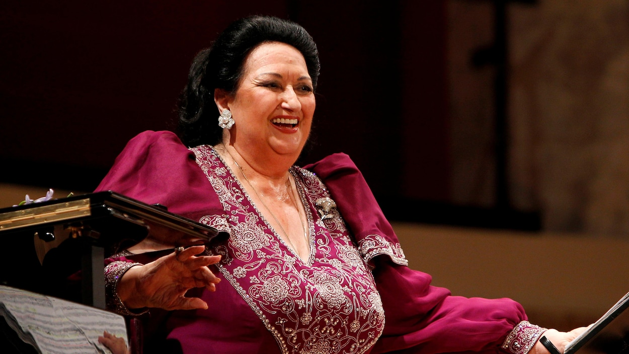 La chanteuse Montserrat Caballé lors d'un concert au Konzerthaus, à Vienne.