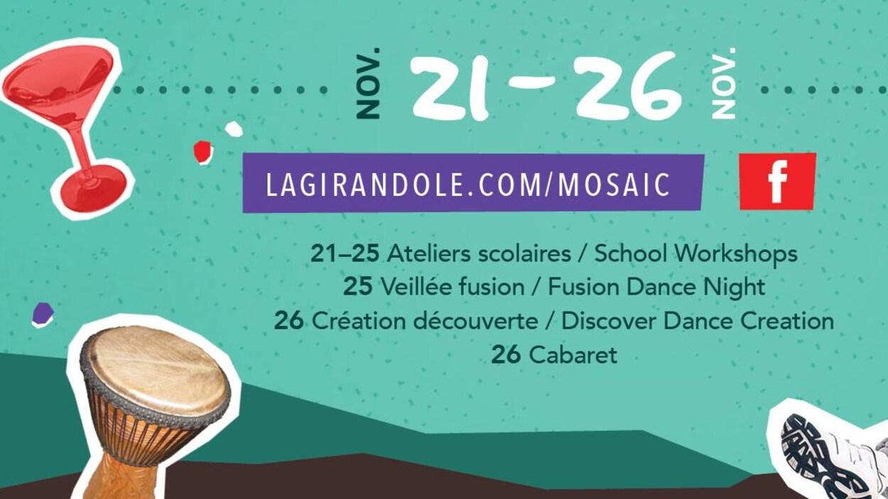 Affiche du festival Mosaïc organisé par La Girandole