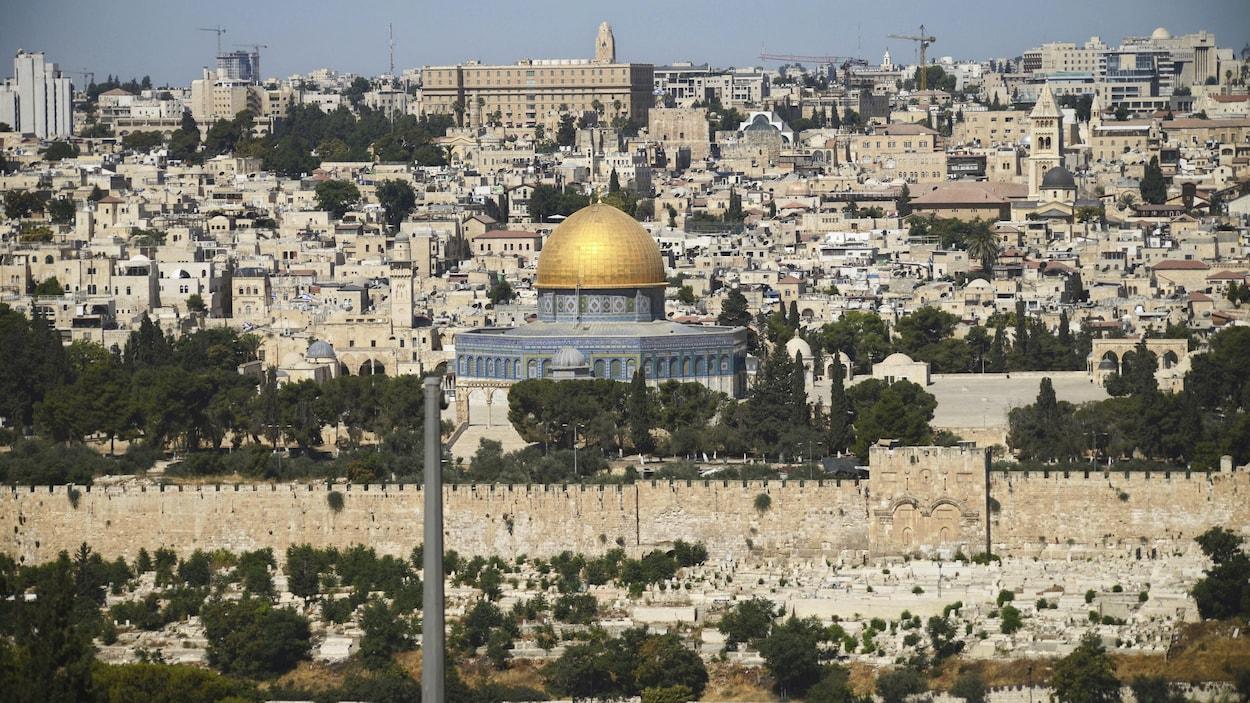 Complexe de la mosquée d'Al Aqsa dans la vieille ville de Jérusalem