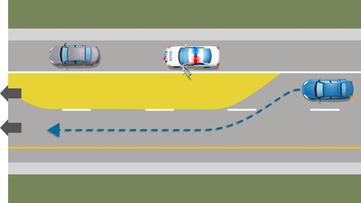 Une illustration expliquant la loi sur le corridor de sécurité.