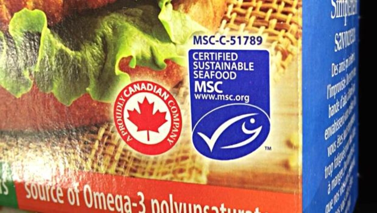 Étiquette bleue de MSC