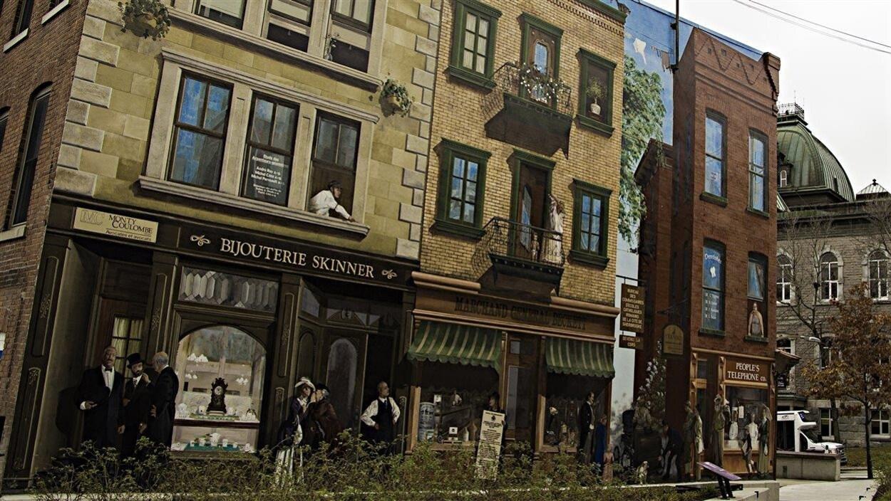 Murales en trompe-l'œil à Sherbrooke