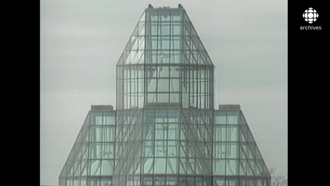 Dôme de verre de l'édifice.
