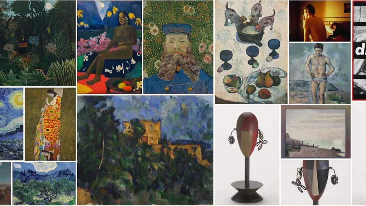 Capture d'écran d'œuvres retrouvées sur Google Arts and Culture pour le MoMA.