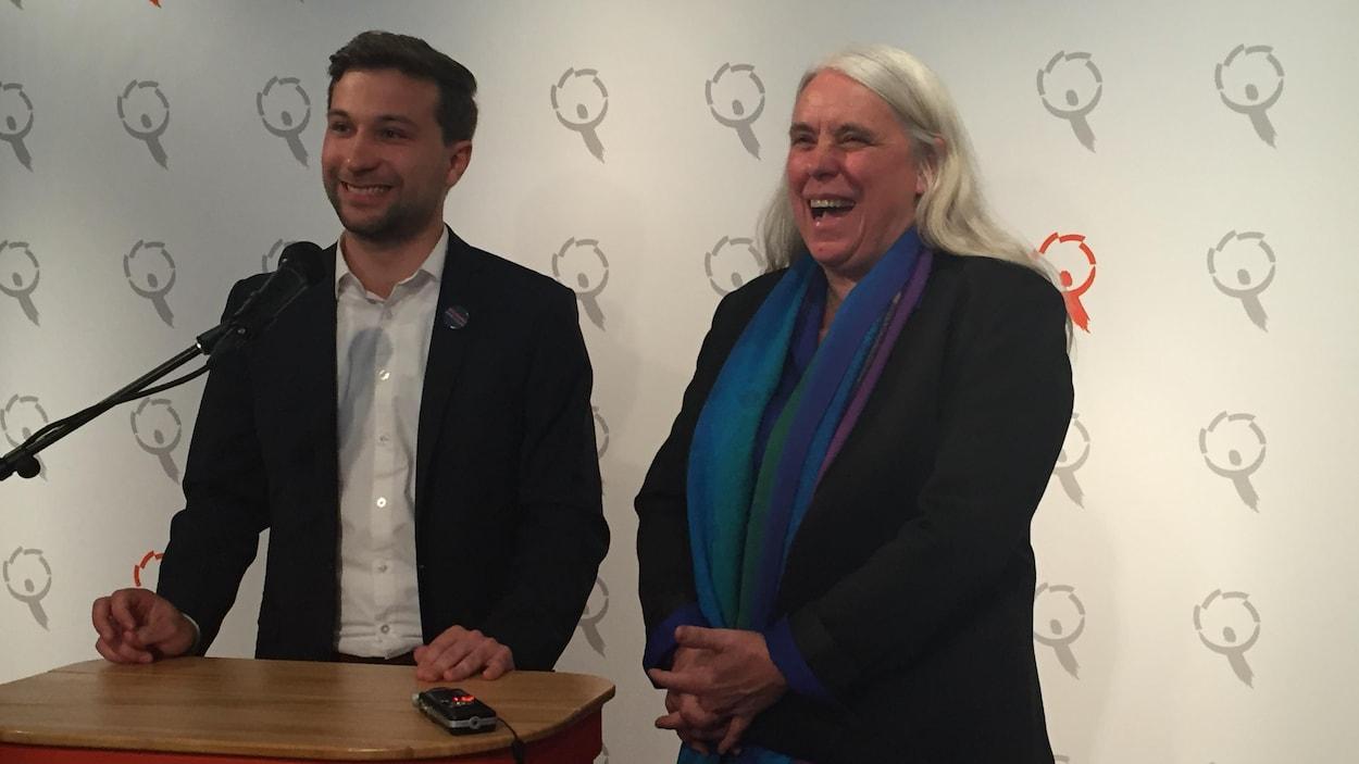 Gabriel Nadeau-Dubois et Manon Massé sont les nouveaux porte-parole de Québec solidaire.