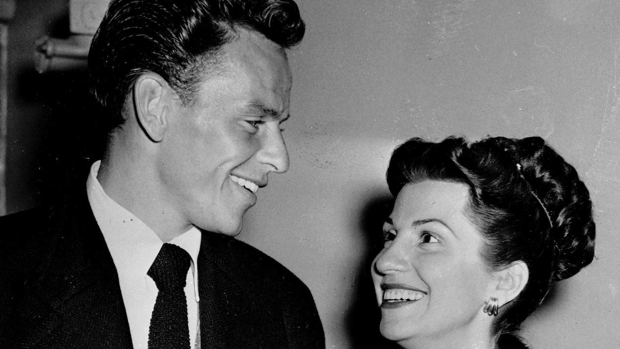 Nancy et Frank Sinatra à Los Angeles en 1946.